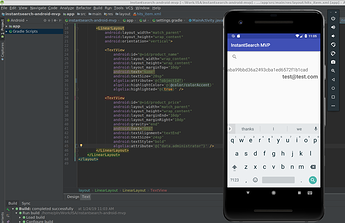 Screenshot of Code & UI